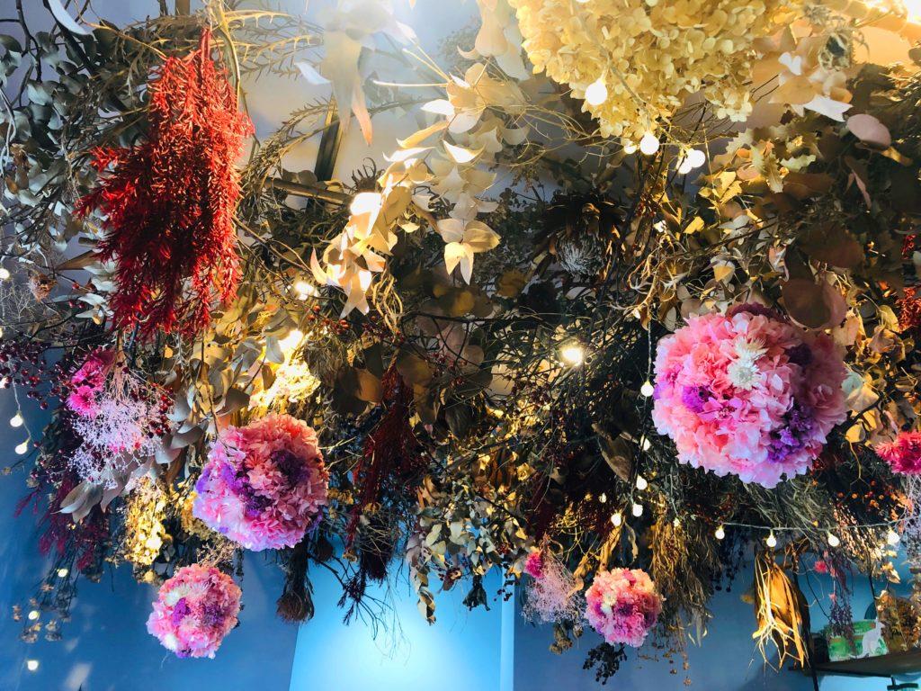 天井のお花